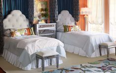 Pier 1 Hayworth Collection Twin Beds and Vanity Bench