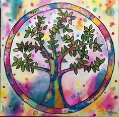 Árbol de la vida. Mixmedia https://www.facebook.com/cuadritos.decolores.7