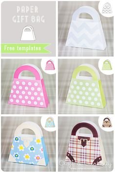 Paper Bags with free template (from Craft And Creativity)