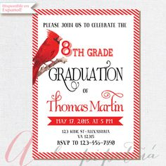 Hey, I found this really awesome Etsy listing at https://www.etsy.com/listing/231347051/8th-grade-graduation-invite-printable