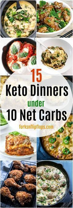 If you're looking for Keto or Low Carb friendly dinner recipes, look no further. Eat your heart out with these delicious 15 Keto dinner ideas that are under 10 net carbs per serving to keep you in line with your low carb goals.