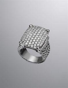 David Yurman  David Yurman Wheaton Ring, Pave Diamond, 20x15mm $4,950.00
