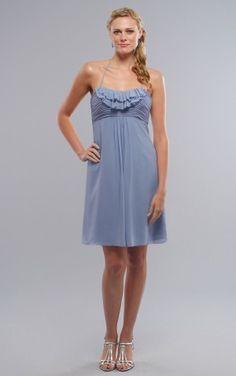 Bargain Halter Sleeveless Chiffon Princess Short Wedding Party Dresses