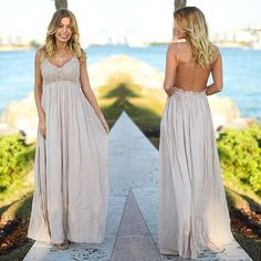 This must have lace open back maxi has been restocked in Taupe! Get yours now! Shop at savedbythedress.com