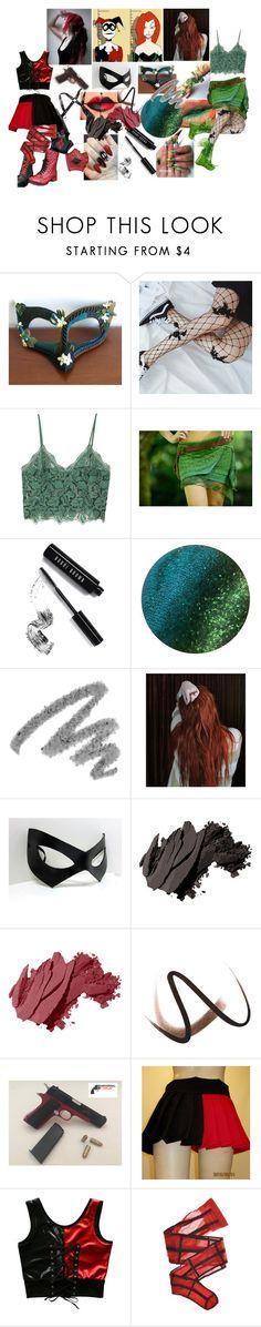 """Gotham Girls"" by shannysgotstyle ❤ liked on Polyvore featuring Masquerade, Lirika Matoshi, MANGO, Bobbi Brown Cosmetics, Yves Saint Laurent, Marvel, Burberry and Wolford"