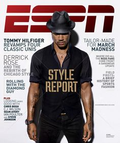 Buy Online 7c3e5 91c96 Chicago Bulls Derrick Rose Covers ESPN The Magazines Style Report