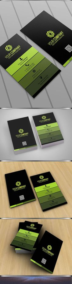 Modern Corporate Business Card Vol 3 by Sukidesu on @creativemarket
