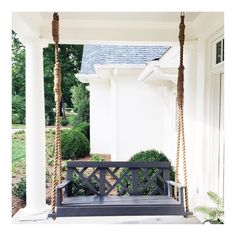 "301 Likes, 17 Comments - Sarah Bartholomew (@sarahbartholomewdesign) on Instagram: ""It's 5 o'clock and Friday!  Time for a cocktail on the porch swing. #sarahbartholomewdesigns"""