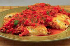 Sauteed Chicken Breasts Recipe with Warm Tomato-Tarragon Salsa