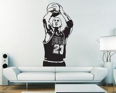 Michael Jordan Basketball Shoot Vinyl Wall Art Decal Wd394 On Etsy, $32.99 Part 3