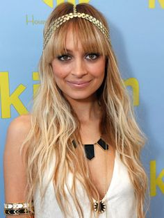 Choose Bold Accessories: Decorate long locks with an eye-catching headband. The multiband gold version Nicole Richie is wearing here is from her House of Harlow 1960 collection.