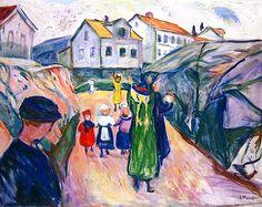 Street in Kragerø, Edvard Munch - 1913