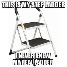 this is my step ladder i never...