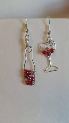 Image result for wine glass earrings