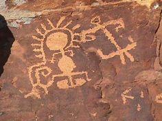 ANASAZI petroglyphs.