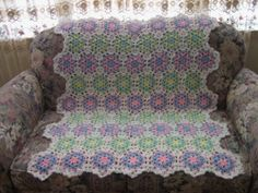 Peppermint Candy Afghan - free crochet pattern