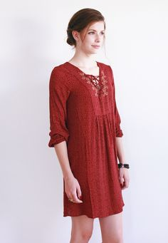 Sloane in Red, Velvet by Graham and Spencer // new markdowns // must-have dress