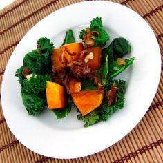Roasted Kabocha Squash with Kale