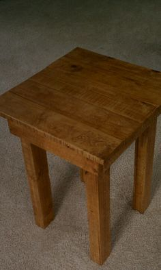 End table made from pallets. To order contact trayz13@yahoo.com