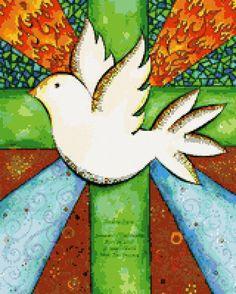 Le régime broderie «Paloma De La Paz» - Schémas auteur «Korovka» - Point de Croix