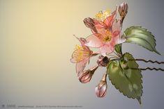 2015年 桜 簪【 紅山桜 】出品いたしましたの画像:榮 - sakae - 簪作家