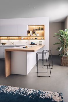 Inspiring Modern Scandinavian Kitchen Design Ideas Modern kitchens may be ef. - Inspiring Modern Scandinavian Kitchen Design Ideas Modern kitchens may be efficiently kitted ou - Home Decor Kitchen, New Kitchen, Kitchen Dining, Kitchen Modern, Kitchen Industrial, Space Kitchen, Compact Kitchen, Modern Kitchen Lighting, Kitchen Wood