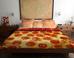 Pizza Bed, A Conceptual Bedding Set Design That Looks Like a Delicious Slice of Pepperoni Pizza
