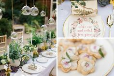 Achieve a beautiful botanical afternoon tea, perfect for weddings.