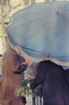 Saul Leiter Blue Umbrella, Spain 1959