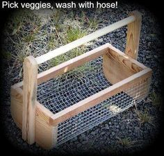 Hose the food off outside and let drip dry... bring inside - leave the mess and bugs outside. Would be SOOO easy to make!!!