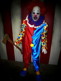 AX-O the CLOWN - Full Sized Haunted House Prop