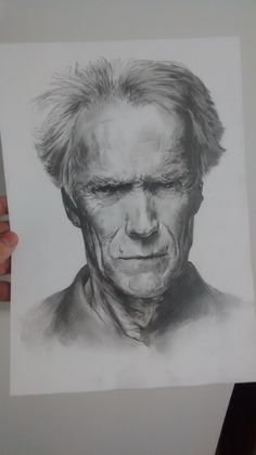 Clint Eastwood drawing