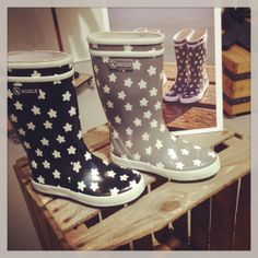 Aigle Rubberboots stars changing colors !