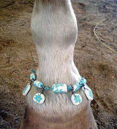 Fantasia Equine Pastern Bracelet -- Anklet for Horses. $15.00, via Etsy.