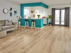 Karndean Korlok Washed Swiss Pine takes inspiration directly from uniquely worn, recycled pine boards. The contrasting colour variation has been perfectly recreated on these drop-and-lock LVT tiles. This floor is finished with a stable foam backing, which eliminates the need for an underlay or adhesive, meaning that this Korlok floor can be installed in almost any room without hassle. Karndean Vinyl Flooring, Luxury Vinyl Flooring, Luxury Vinyl Tile, Tiles, Home Design Diy, House Design, Flooring Companies, Luxury Interior Design