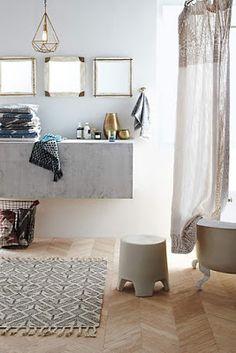 Freshly Cut - Sale Home & Furniture Modern Bathroom Tile, Boho Bathroom, Rustic Bathrooms, Bathroom Interior Design, Interior Decorating, Holiday Decorating, Master Bathroom, Bathroom Ideas, Powder Room Design