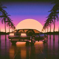 Stijl 1 // Miami 80s: Het perspectief en kleur gebruik zijn typerend voor deze stijl in dat jaar.