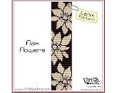 Pattern for Loom: Flax Flowers - INSTANT DOWNLOAD pdf - Multibuy savings with coupon codes - bl95