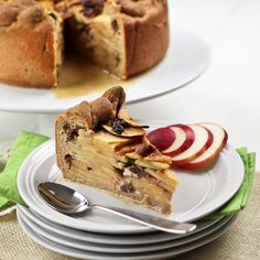 Mile High Apple Pie Cake by @Sonia! The Healthy Foodie