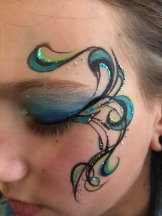 Adult Face Painting, Body Painting, Glitter Face, Face Painting Designs, Maquillage Halloween, Face Design, Simple Makeup, Face Art, Face And Body