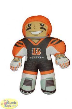 "Northwest NFL Cincinnati Bengals Rush Zone 20"" Player Pillow"
