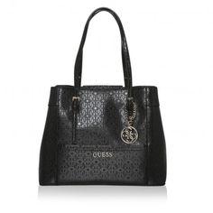 Guess Tasche – Delaney Shopper Black – in schwarz – Umhängetasche für Damen