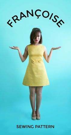 Introducing the Francoise sewing pattern! (Tilly and the Buttons) Say hello to our new sewing pattern – the Francoise dress! Francoise is a chic yet easy-to-wear… Dress Sewing Patterns, Vintage Sewing Patterns, Clothing Patterns, Pattern Dress, Sewing Clothes, Diy Clothes, Robe Diy, Tilly And The Buttons, Simple Dresses