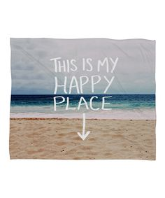 'Happy Place' Fleece Throw | something special every day