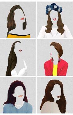 Lana Del Rey #LDR #art from Born To Die videos