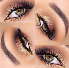 Golden shadow. Love her eye color too.