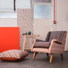 Corinne Webb is shaping the future of furniture. Her home furnishings brand, Frame and Cover, solely uses sustainable materials such as coconut fibre, sheep's wool and hessian and FSC-certified wood. Upholstered Chairs, Wingback Chair, Traditional Frames, Home Furnishings, Love Seat, Accent Chairs, Upholstery, Wood, Cover