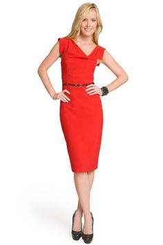 Red Jackie O Dress by Black Halo -- purchased at a sample sale!!