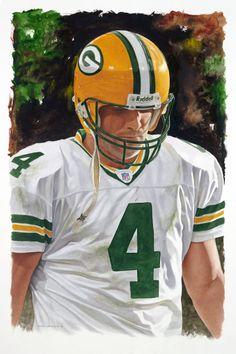 Brett Favre, Green Bay Packers by Glen Green
