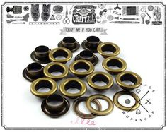 100pcs Eyelets Solid Brass Chrome Plated Eyelets Grommets Curtains Crafts Bags